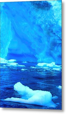 Metal Print featuring the photograph Deep Blue Iceberg by Amanda Stadther