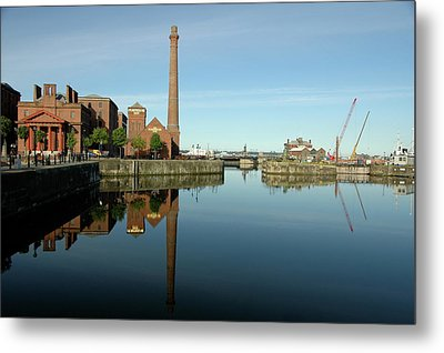 Deep Blue Reflections Metal Print by Jonah  Anderson
