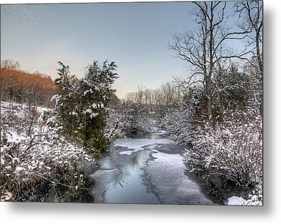 Deep Creek At Green Lane Reservoir - Pennsylvania Usa Metal Print by Mother Nature