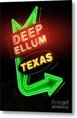 Deep Ellum Red Glow Metal Print by Robert ONeil