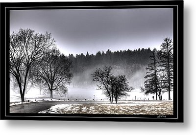 Deep Fog Over Marmo   Framed Metal Print