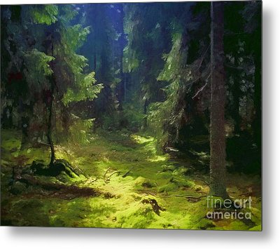 Deep Forest Metal Print by Lutz Baar