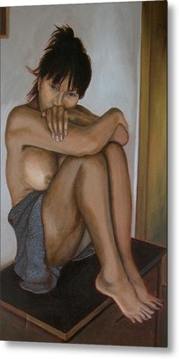 Deep In Thought Metal Print by Thu Nguyen