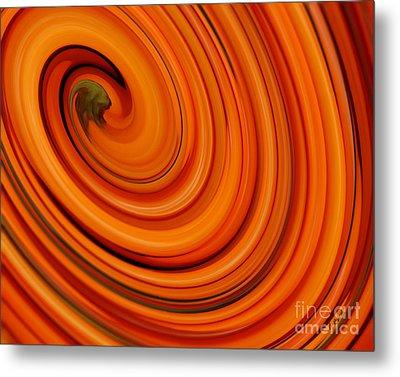 Deep Orange Abstract Metal Print