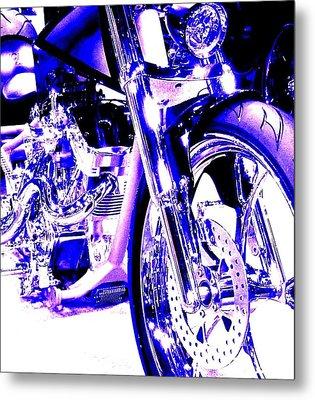 Deep Purple Art On Two Wheels Metal Print