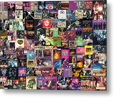 Deep Purple Collage Metal Print