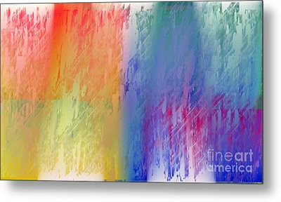 Deep Rich Sherbet Abstract Metal Print by Andee Design