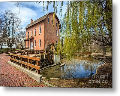Deep River County Park Grist Mill Metal Print by Paul Velgos