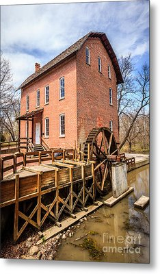 Deep River Grist Mill In Northwest Indiana Metal Print