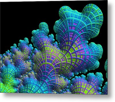 Deep Sea Coral Metal Print by Susan Maxwell Schmidt