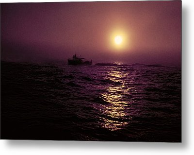 Deep Sea Fishing Off West Port Wa II Metal Print