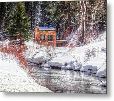Deep Snow In Spearfish Canyon Metal Print by Lanita Williams