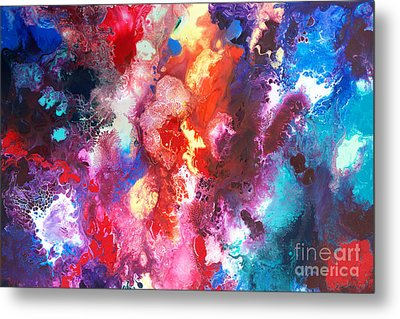 Deep Water Coral Metal Print by Sally Trace