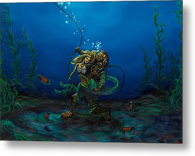 Deepsea Love Metal Print by Andres  Soto