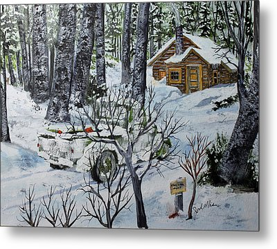 Deer Camp 141114 Metal Print