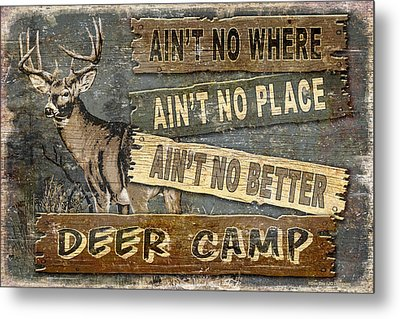 Deer Camp Metal Print