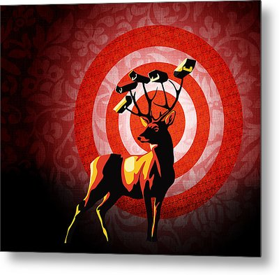 Deer Watch Metal Print