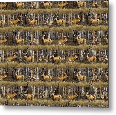 Deer Woods Duvet Pillow Art Metal Print by Cynthie Fisher