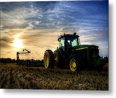 Deere Sunset Metal Print