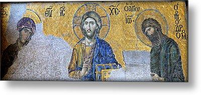 Deesis Mosaic -- Hagia Sophia Metal Print by Stephen Stookey
