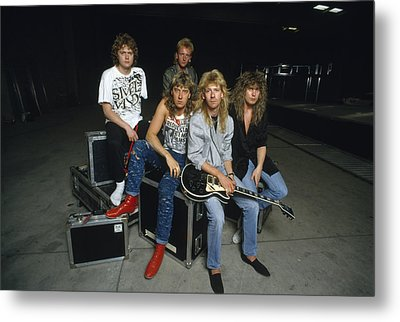 Def Leppard - Equipment & Gear 1987 Metal Print by Epic Rights