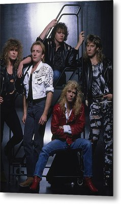 Def Leppard - Group Stairs 1987 Metal Print by Epic Rights
