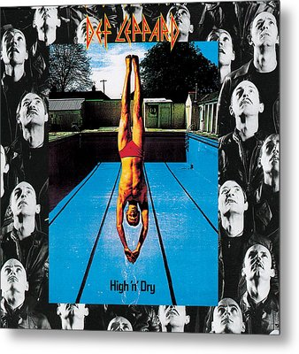 Def Leppard - High 'n' Dry 1981 Metal Print by Epic Rights