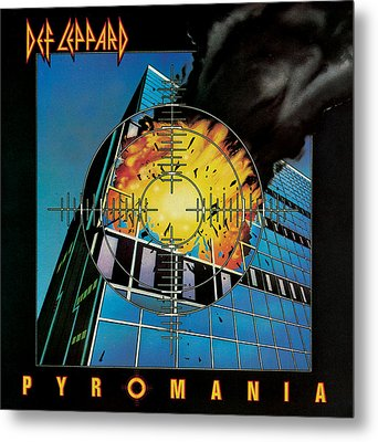 Def Leppard - Pyromania 1983 Metal Print by Epic Rights