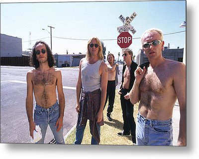 Def Leppard - Slang Tour 1996 - Jackson Street Metal Print by Epic Rights