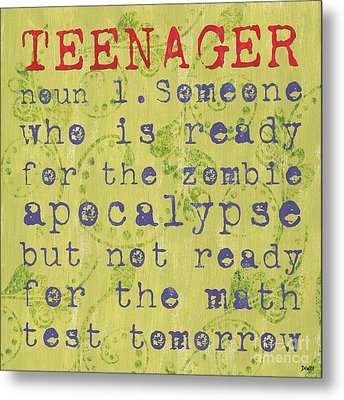 Definition Of Teenagers Metal Print by Debbie DeWitt