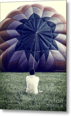 Deflated Metal Print by Edward Fielding