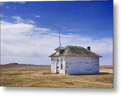 Defunct One Room Country School Building Metal Print by Donald  Erickson