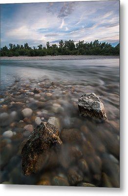 Defying The Flow Metal Print by Davorin Mance