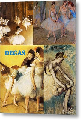 Degas Collage Metal Print by Philip Ralley