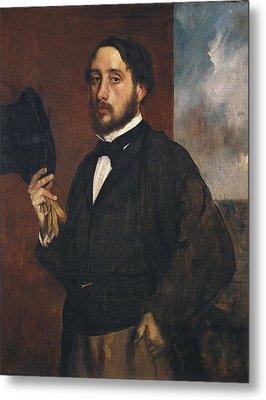 Degas, Edgar 1834-1917. Self-portrait Metal Print