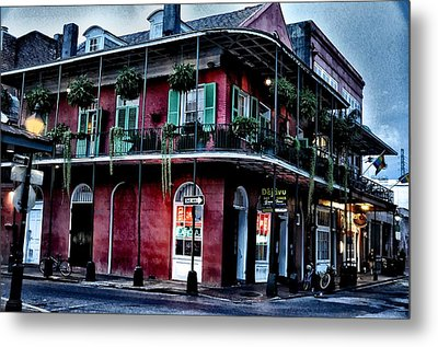 Deja Vu - Bourbon Street Metal Print by Bill Cannon