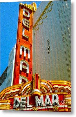 Del Mar Theater - Santa Cruz - 02 Metal Print by Gregory Dyer