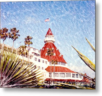 Del With Palms - Horz. Metal Print