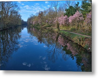Delaware And Raritan Canal Turning Basim Metal Print