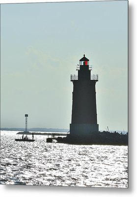 Delaware Breakwater East End Lighthouse Metal Print