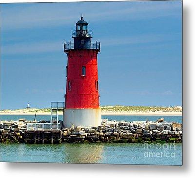 Delaware Breakwater Lighthouse Metal Print by Nick Zelinsky