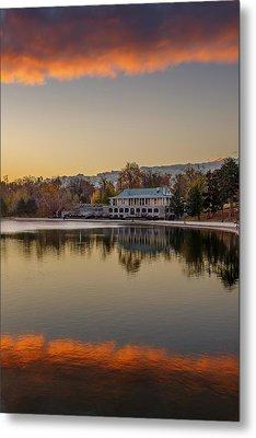 Delaware Park Marcy Casino Autumn Sunrise Metal Print