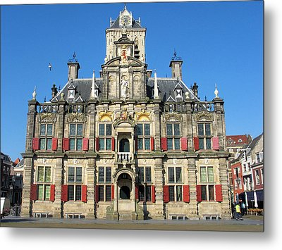 Delft City Hall Metal Print by Gerry Bates