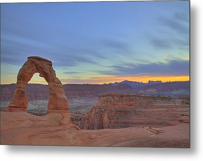 Metal Print featuring the photograph Delicate Arch At Sunset by Alan Vance Ley