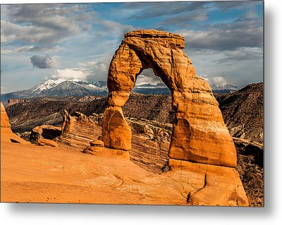 Metal Print featuring the photograph Delicate Arch by Jay Stockhaus