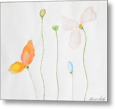 Metal Print featuring the painting Delicate  by Reina Resto
