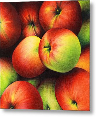 Delicious Apples Metal Print