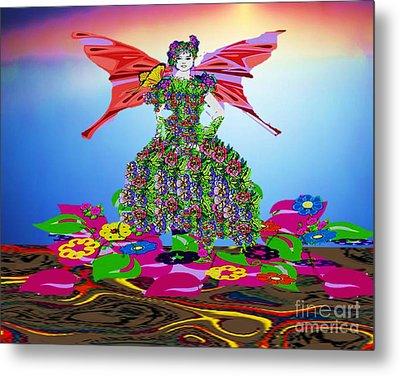 Delightful Bed Of Flowers Metal Print by Belinda Threeths