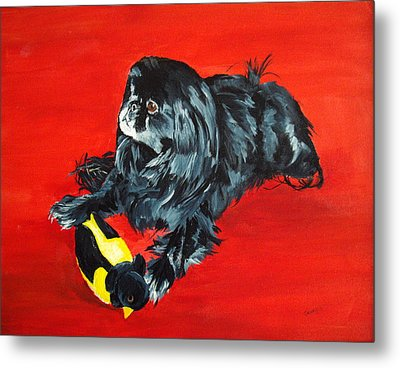 Metal Print featuring the painting Delilah by Ellen Canfield