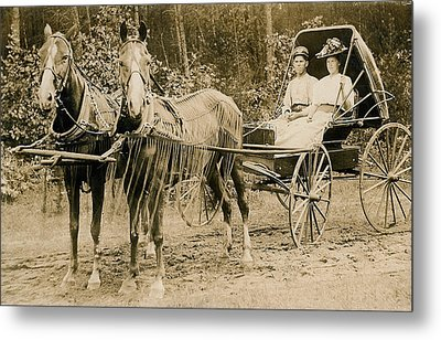 Delivering The Mail 1907 Metal Print by Floyd Russell